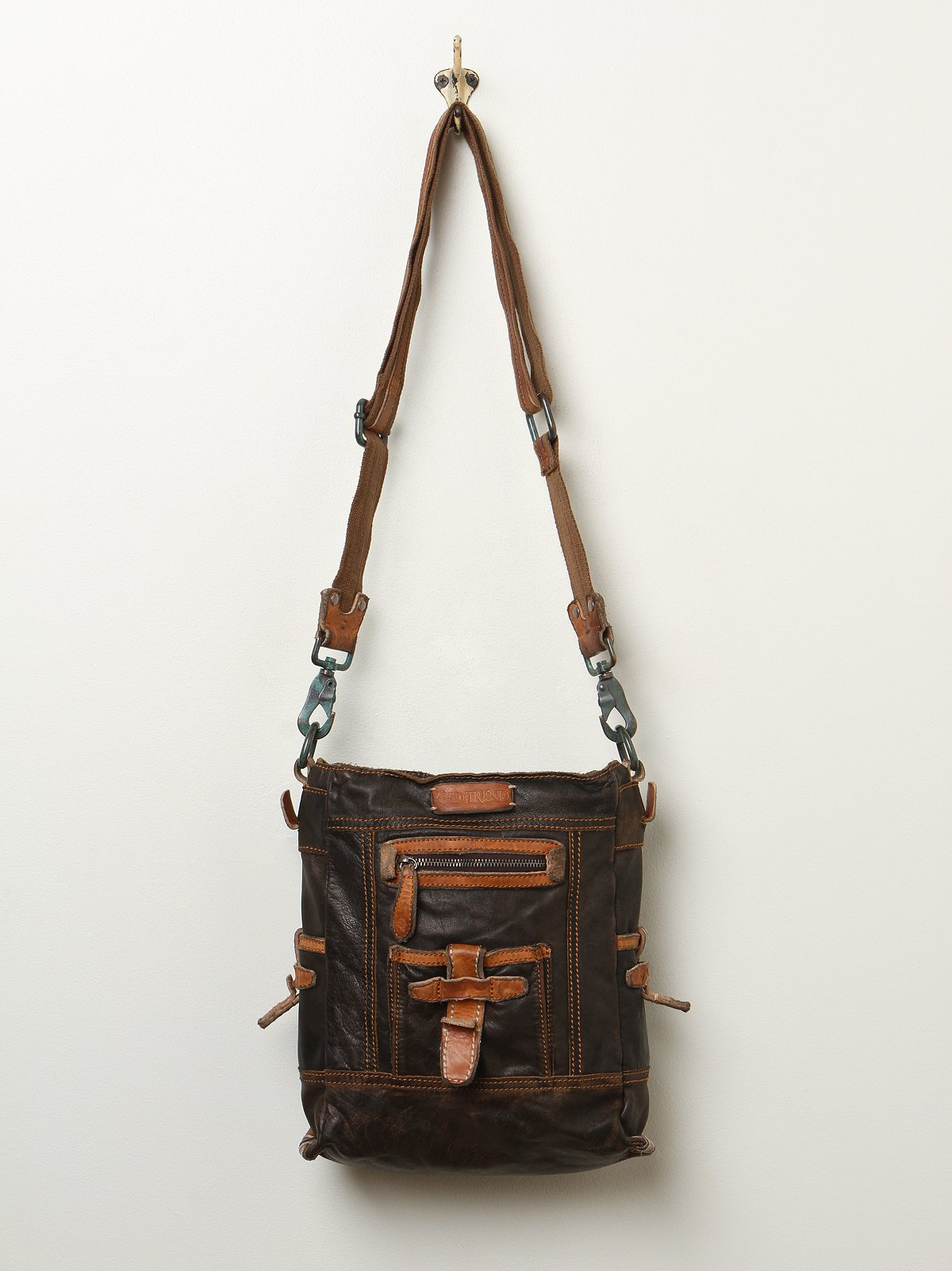 Cityscape Leather Satchel