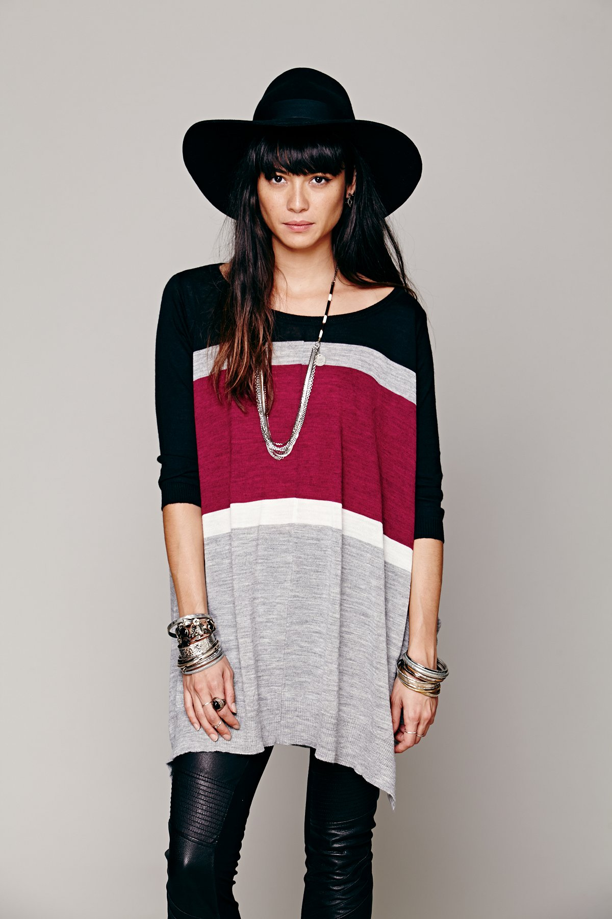 Wide Stripe Oversized Pullover