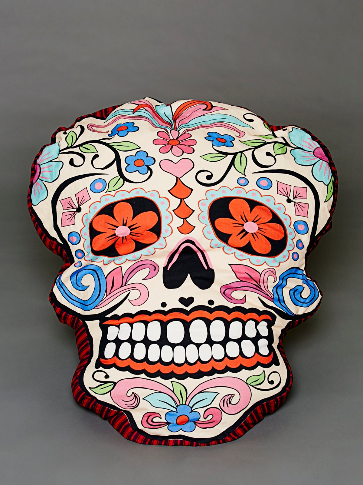 Sugar Skull Dog Pillow