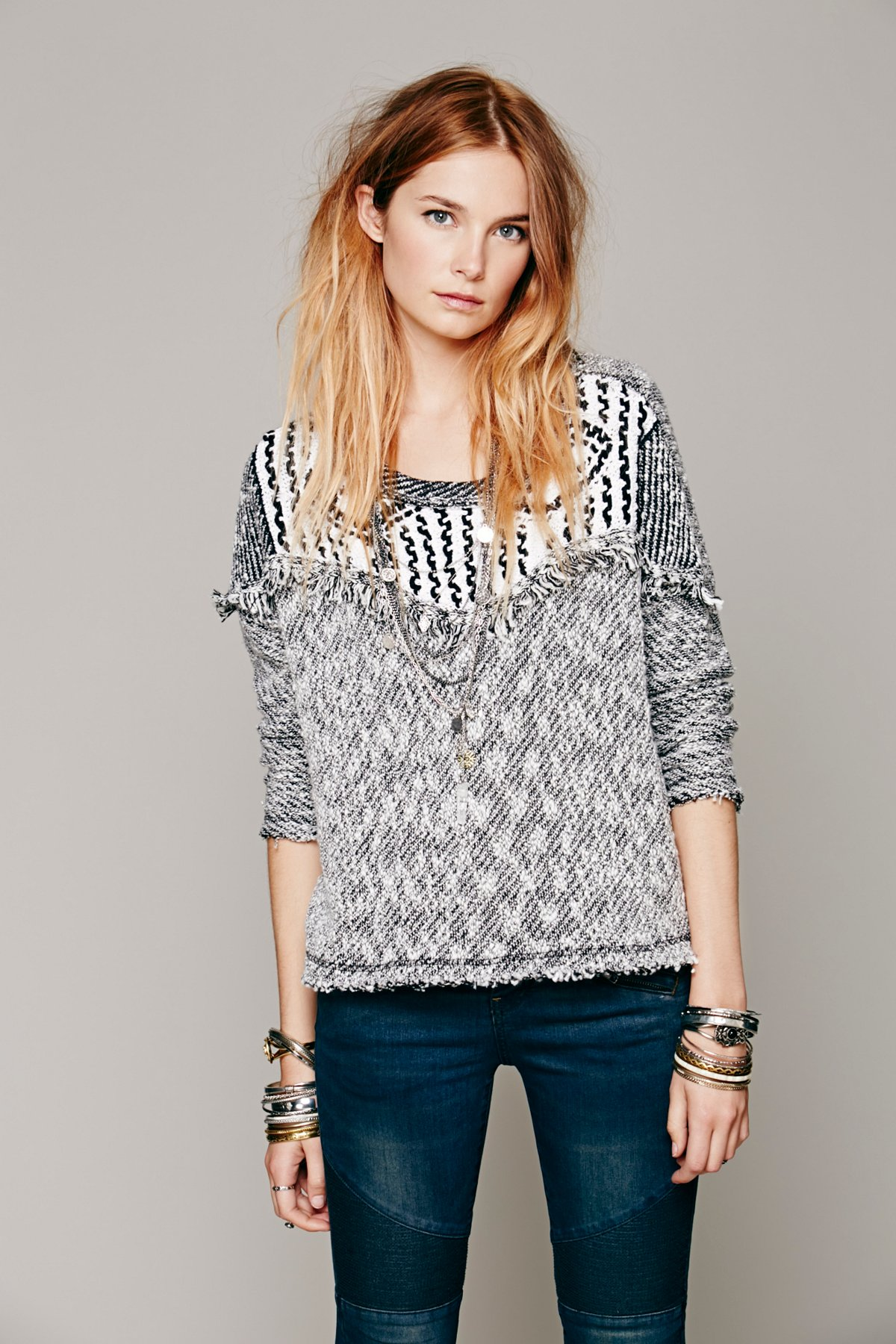Seeing In Black And White Pullover