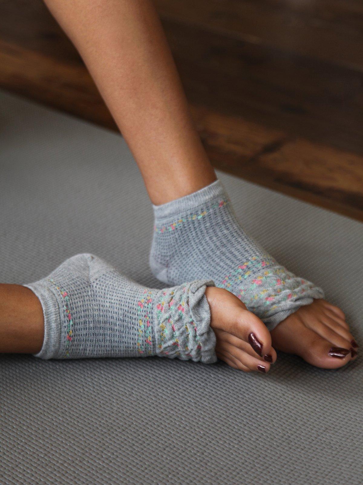 Floral Yoga Sock
