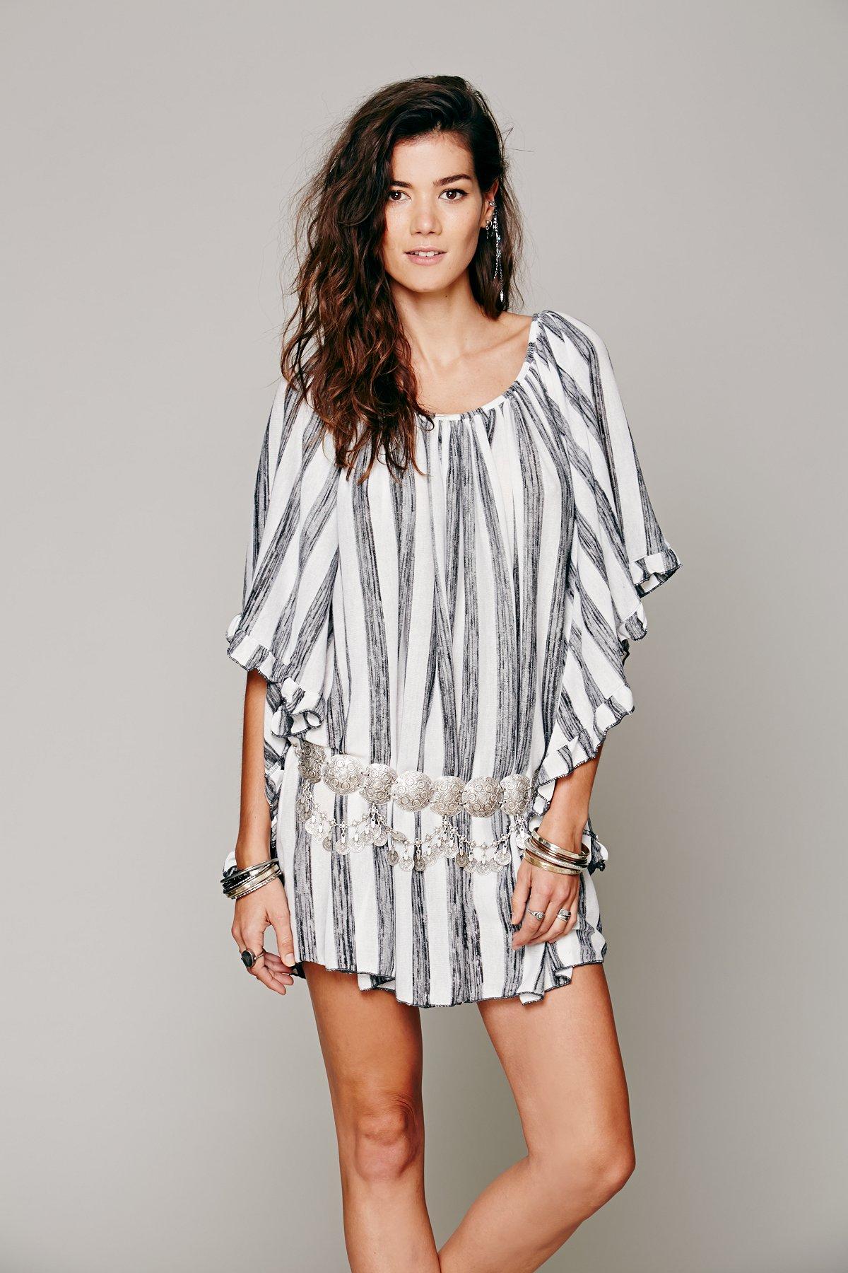 Knit Stripe Doily Dress