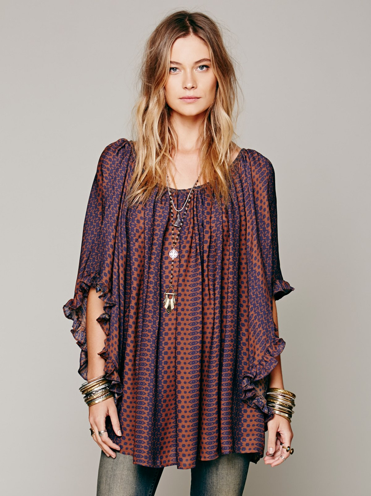 Silk Print Doily Dress