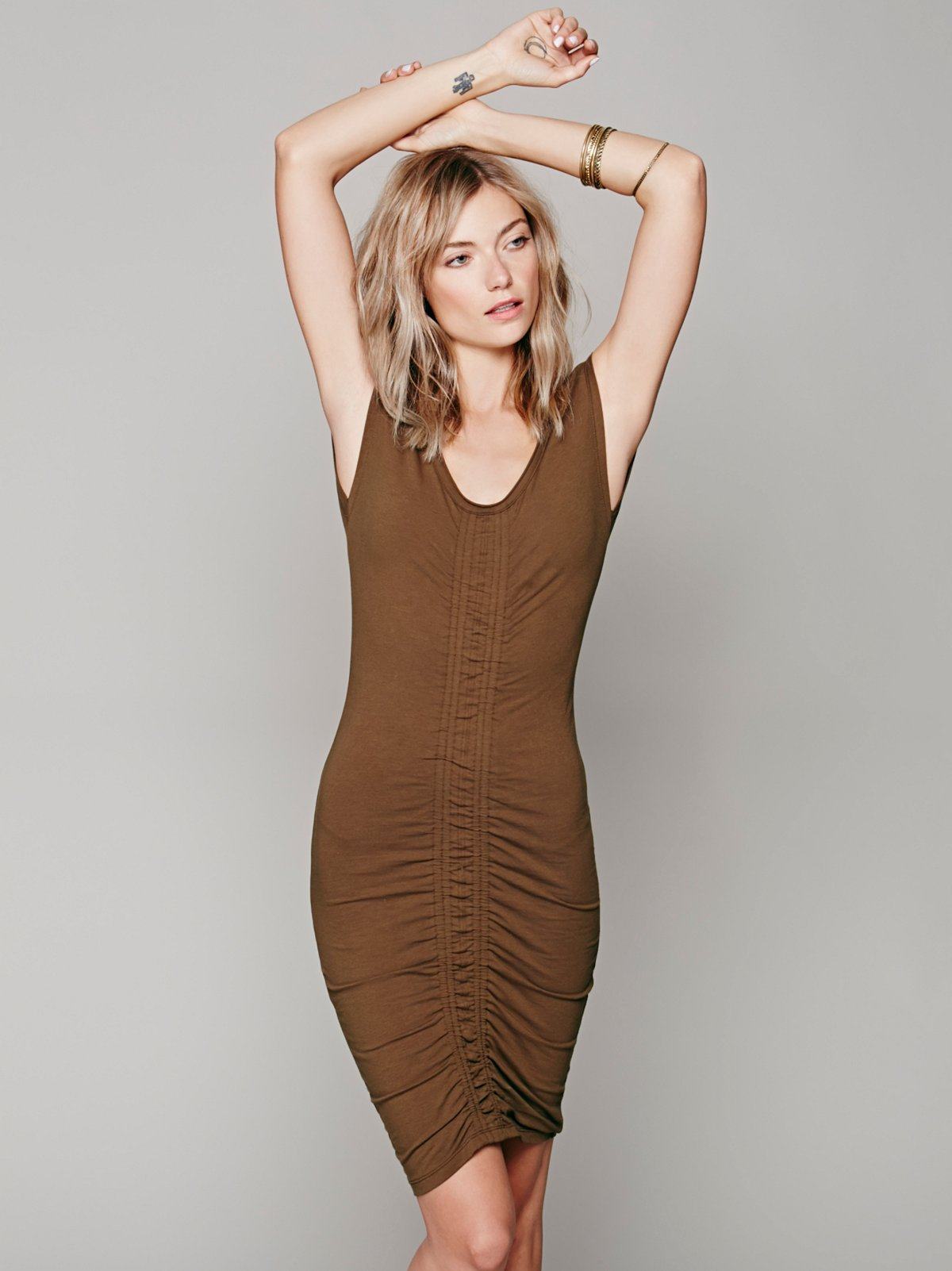 Scrunch Me Up Midi Dress