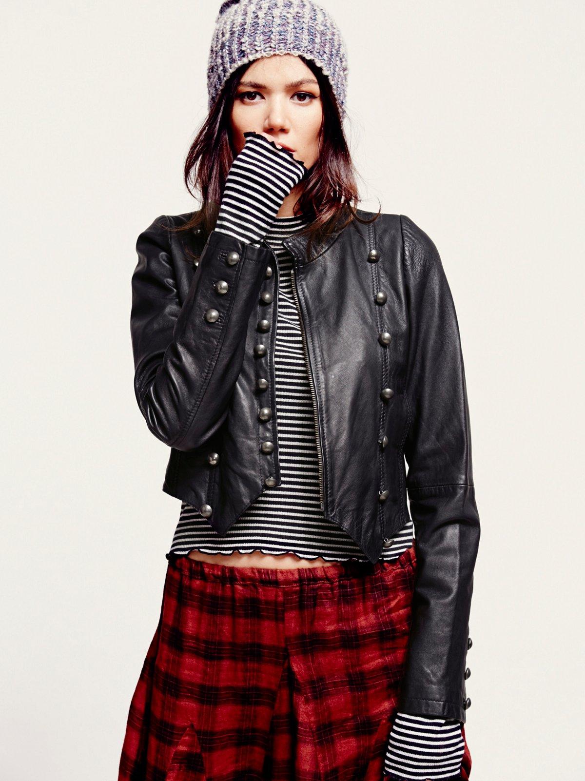 Military Leather Jacket