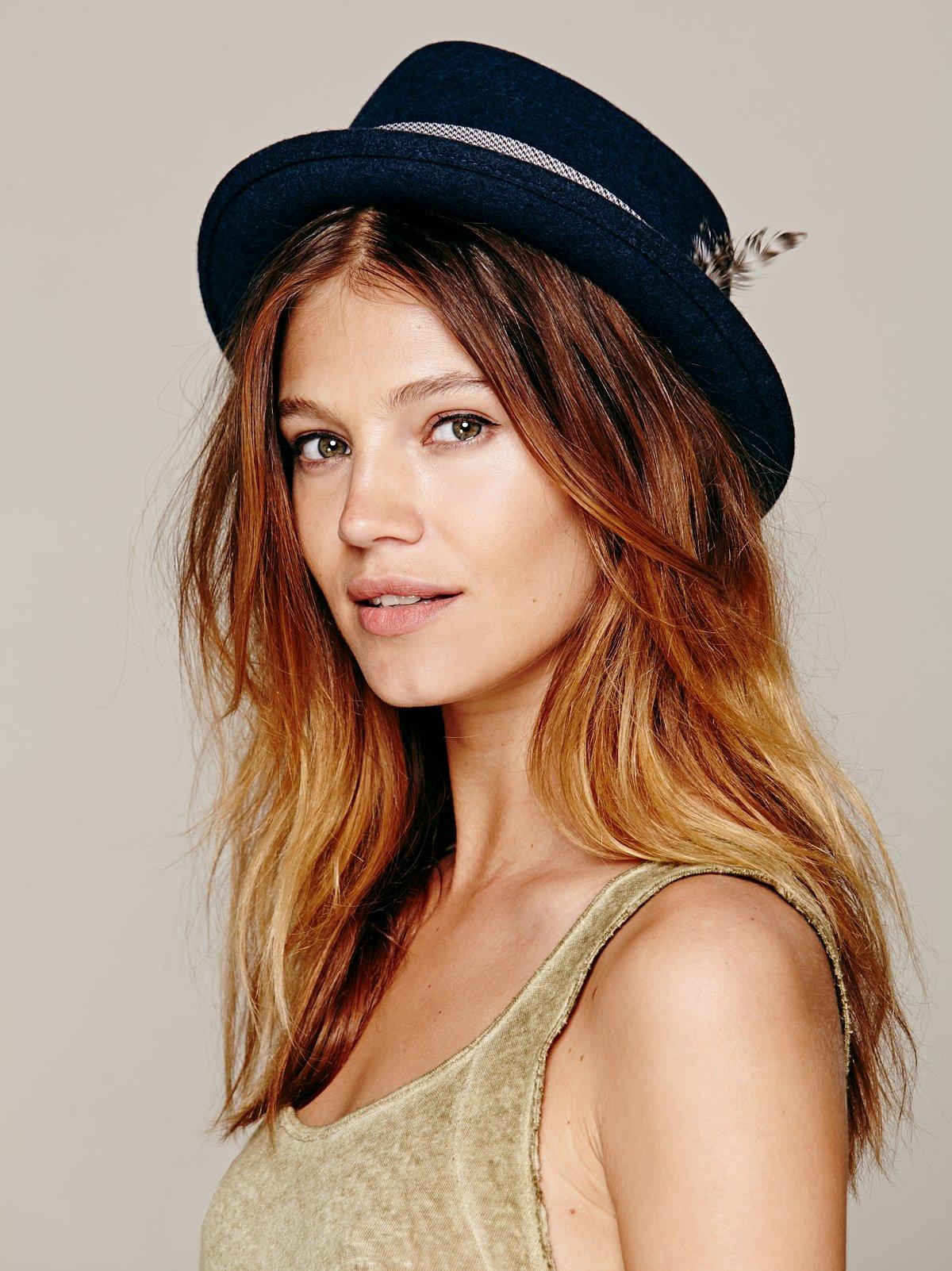 Porkpie Banded Hat
