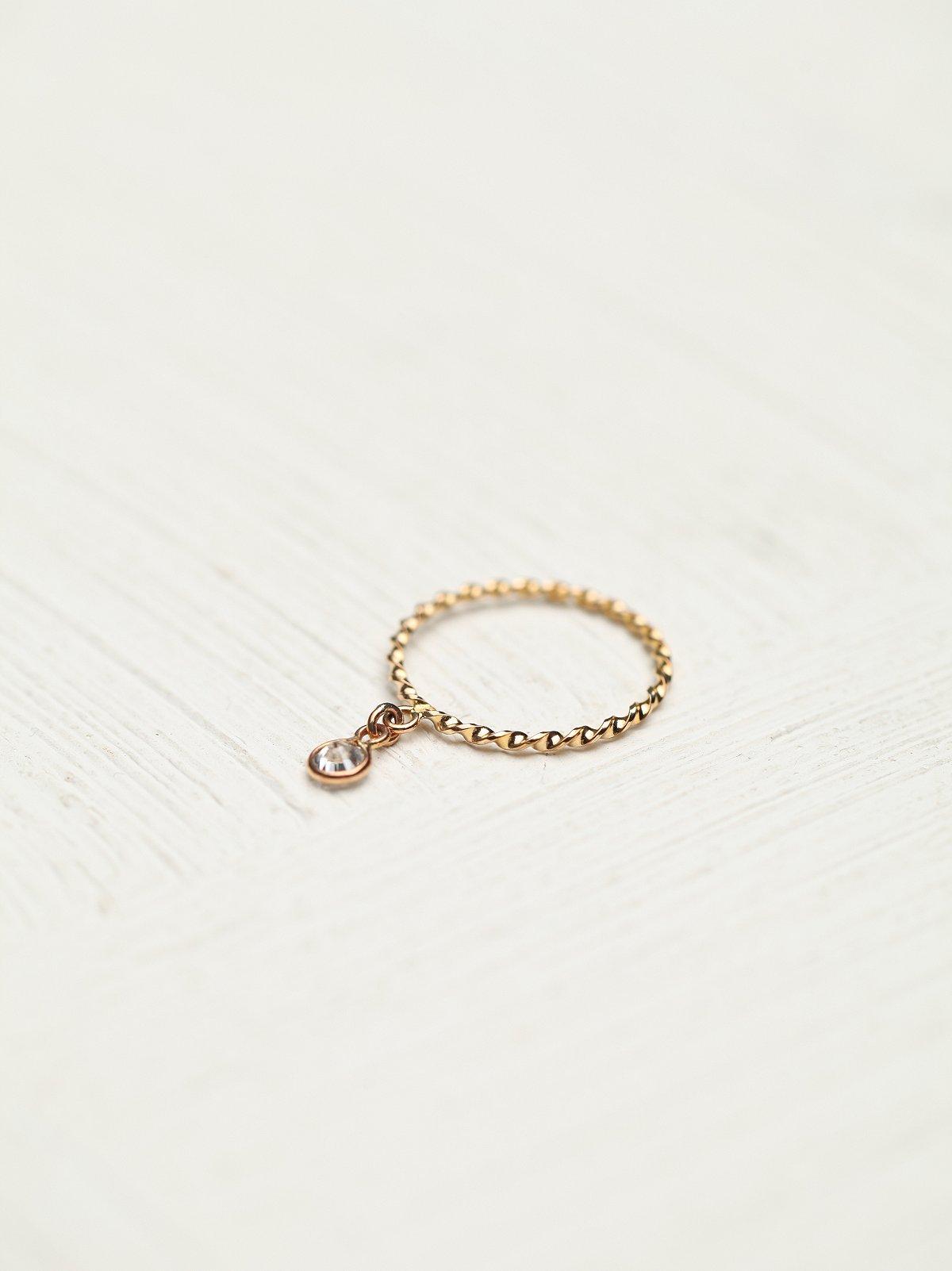 Gem Dangle Ring