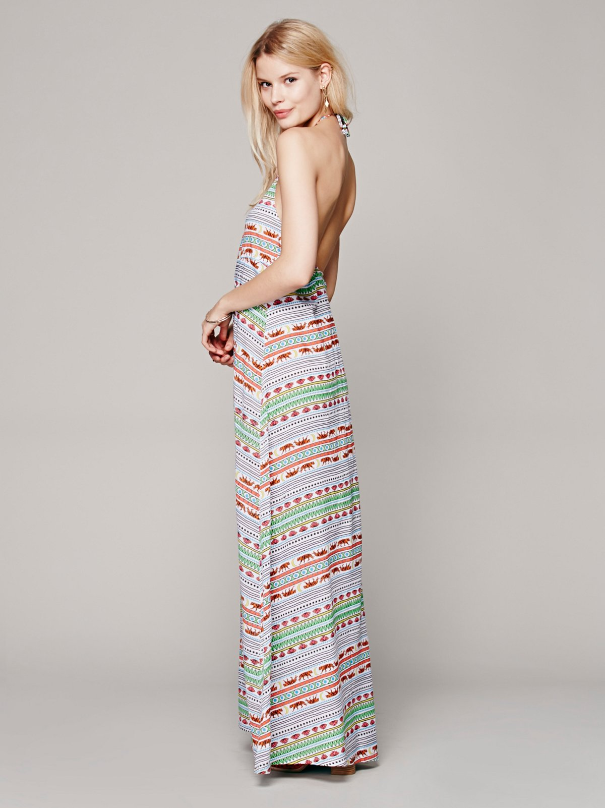 Tiger Stripe Maxi Dress