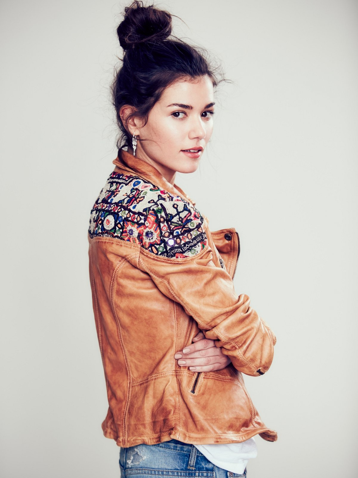 Embellished Classic Biker Jacket