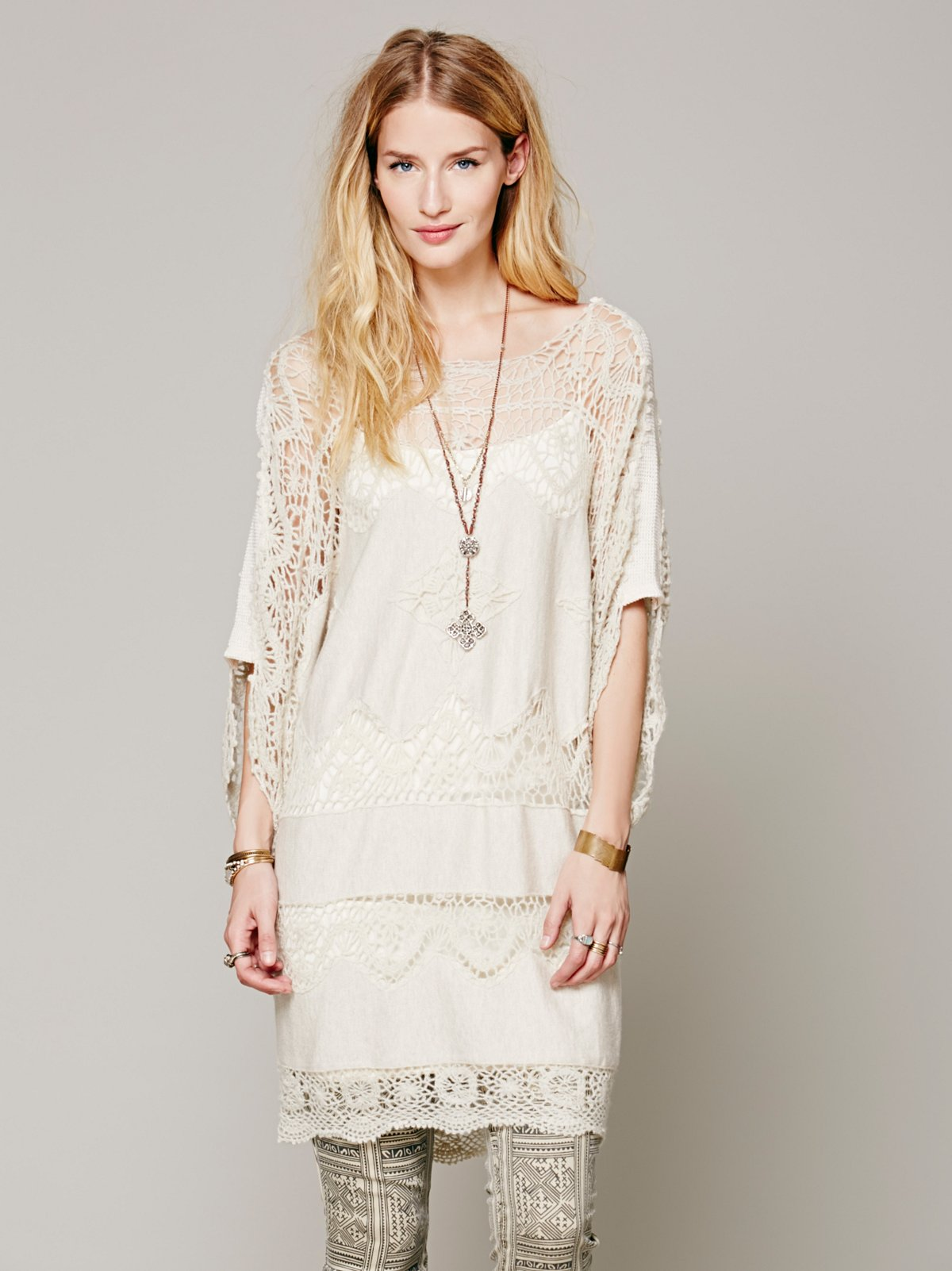 FP New Romantics Simply Lace Sweater Tunic
