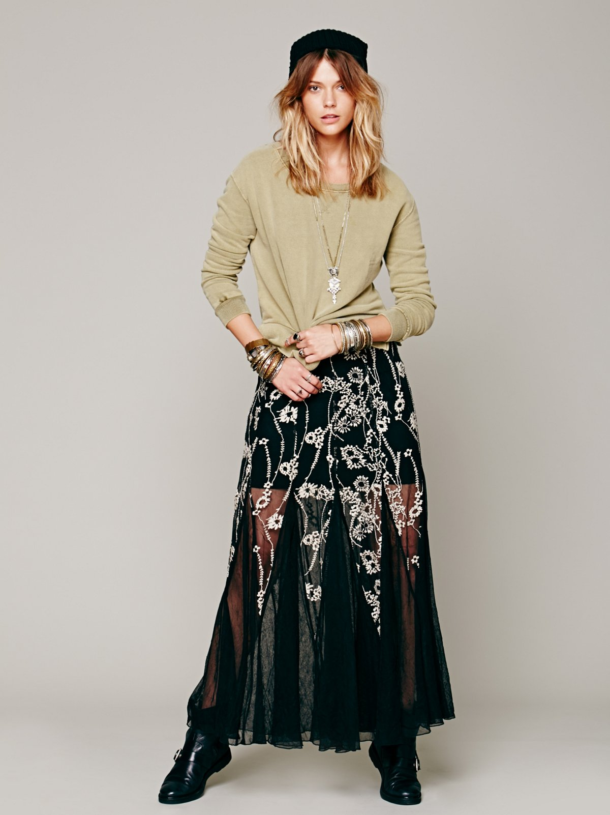 Windswept Embroidered Maxi