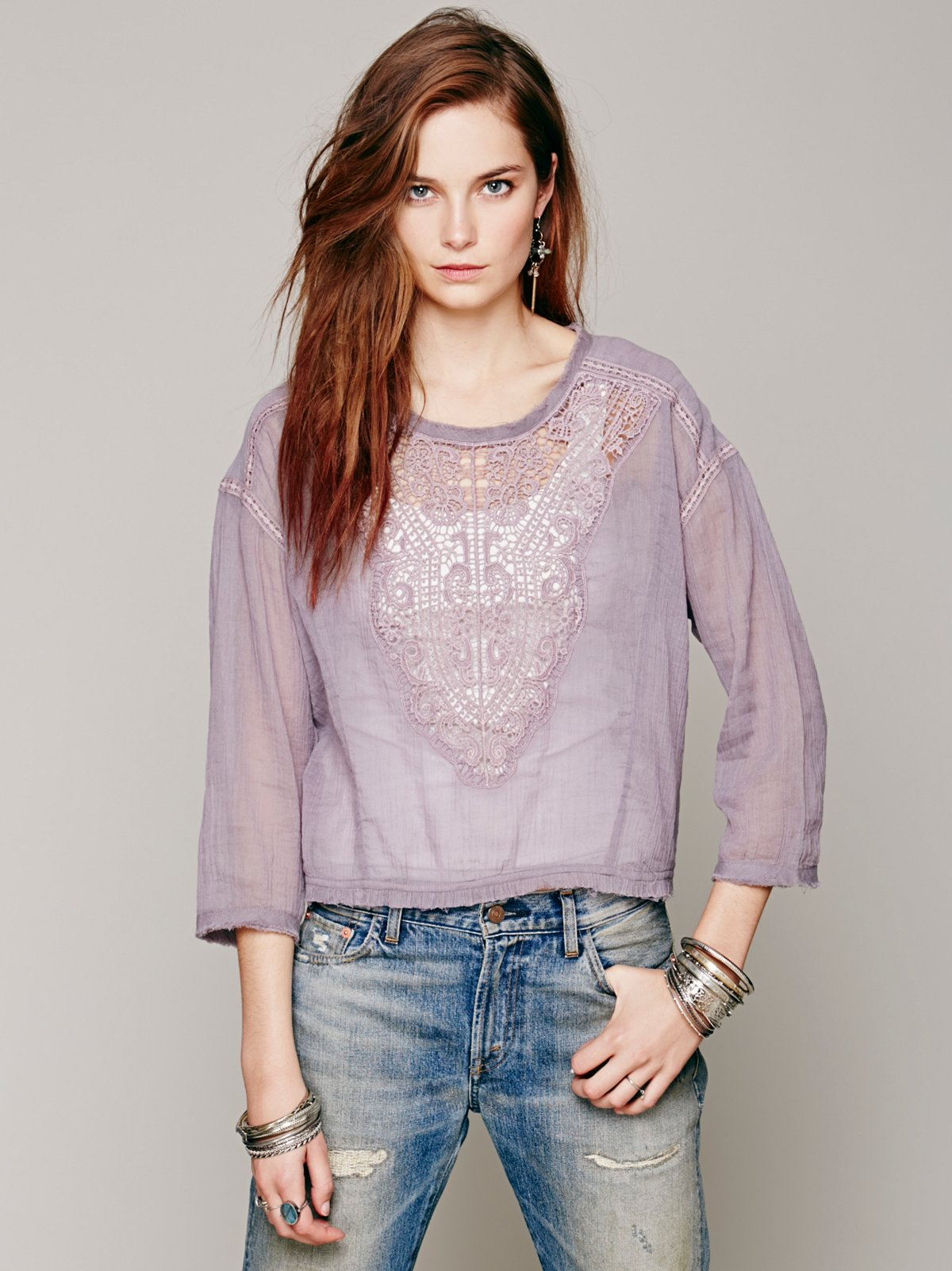 FP ONE Crochet Inset Top