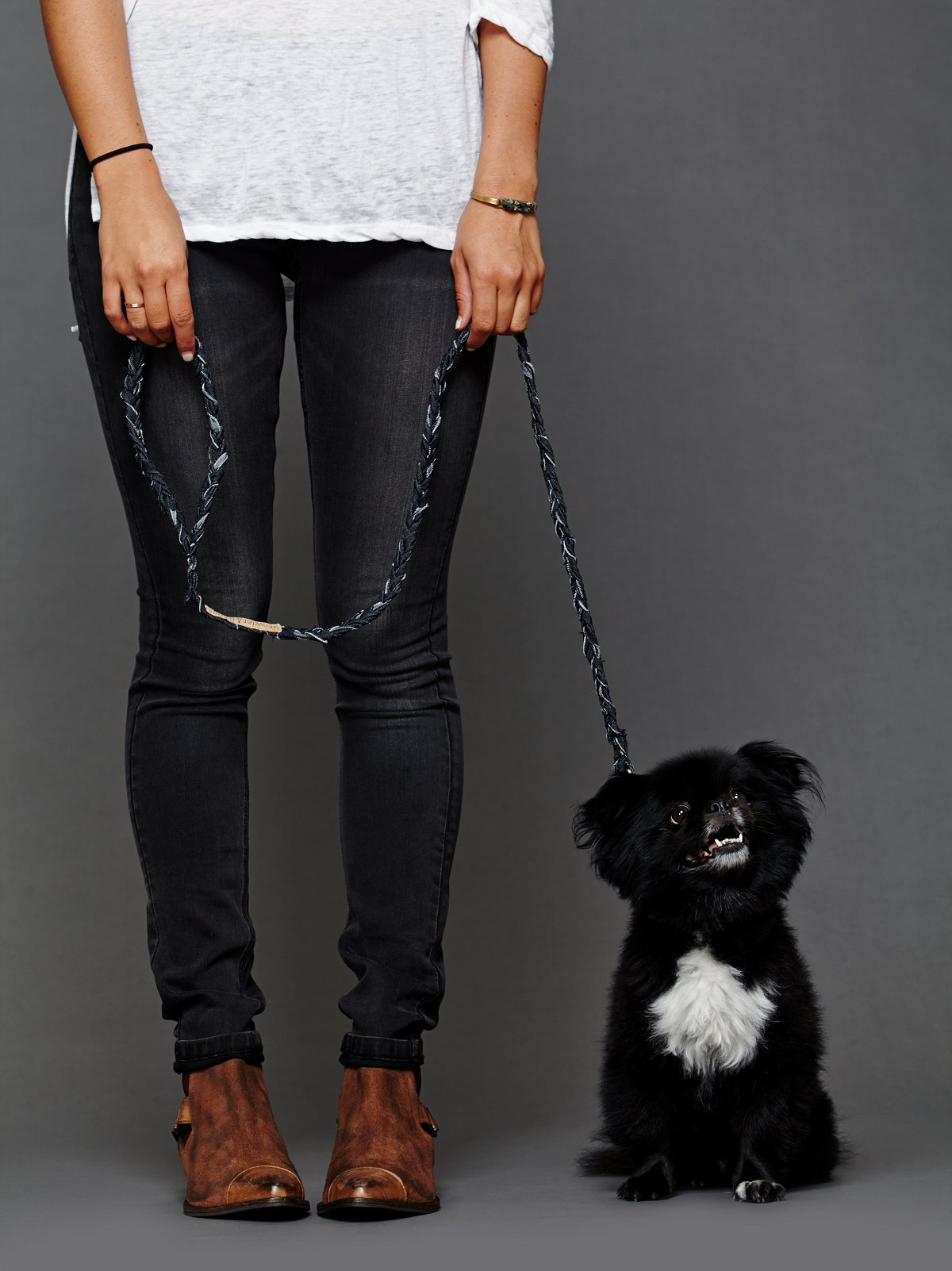 Braided Denim Leash