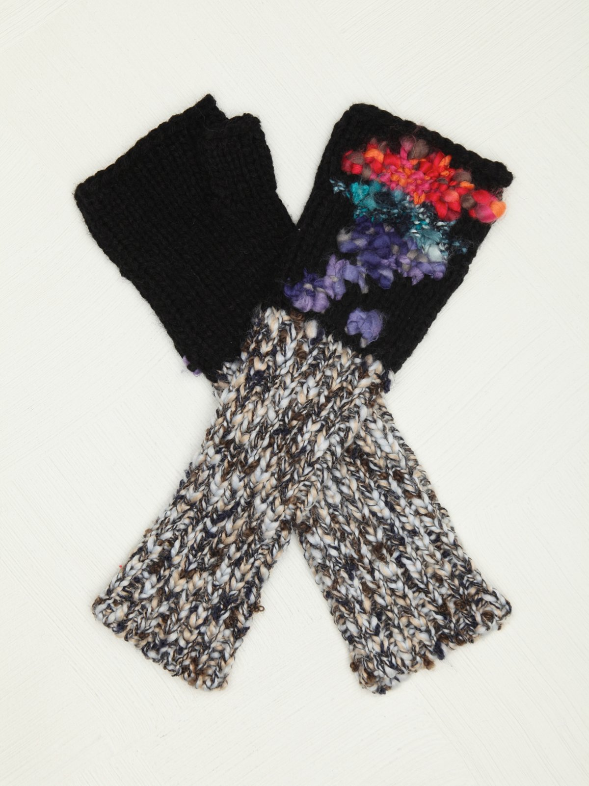 Patchwork Fingerless Glove