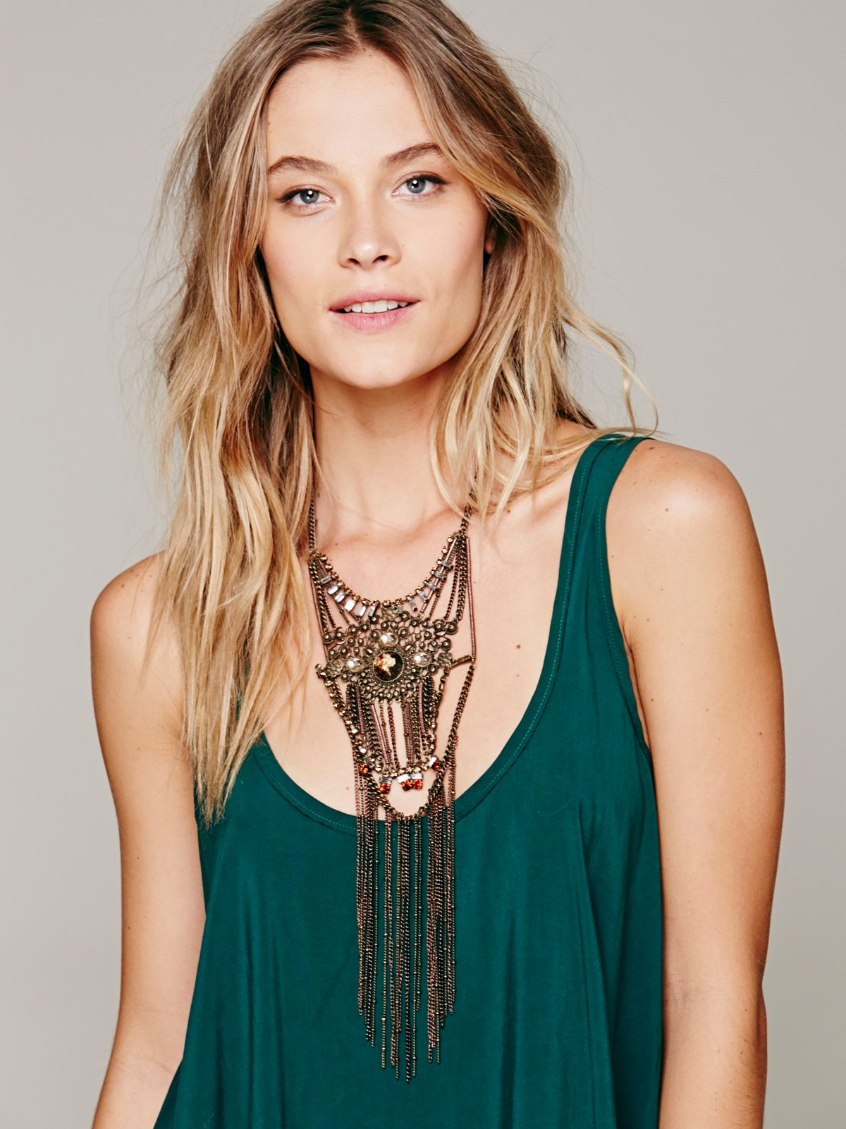 Fritz Statement Fringe Necklace