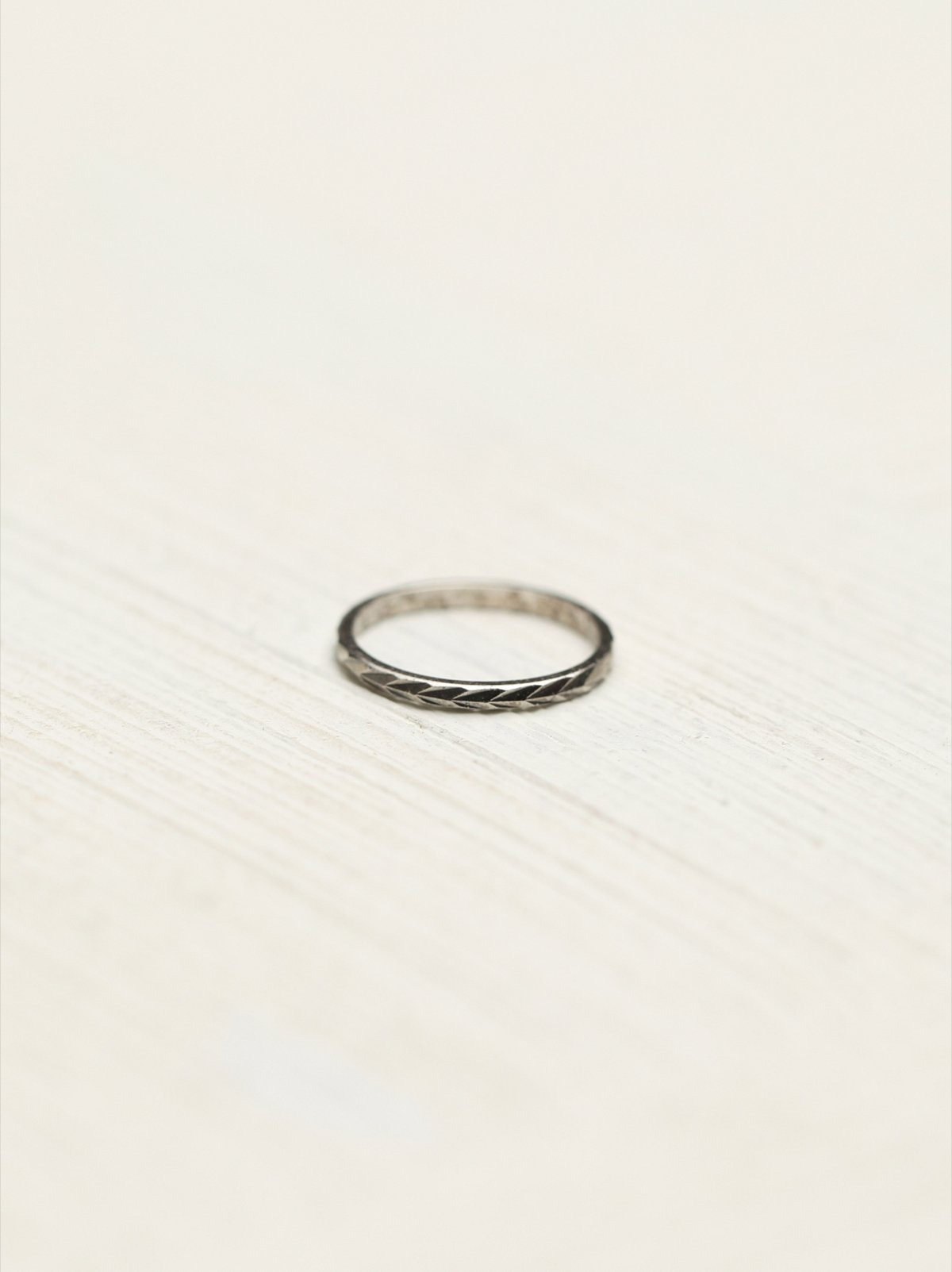 Etched Skinny Ring