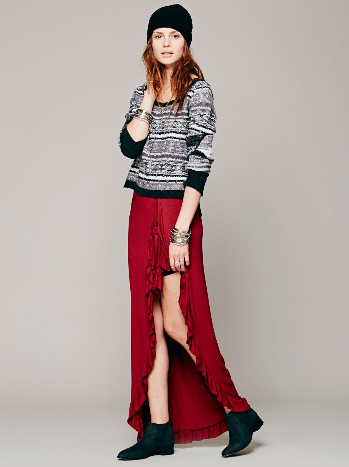 Ruffled Edges Wrap Skirt