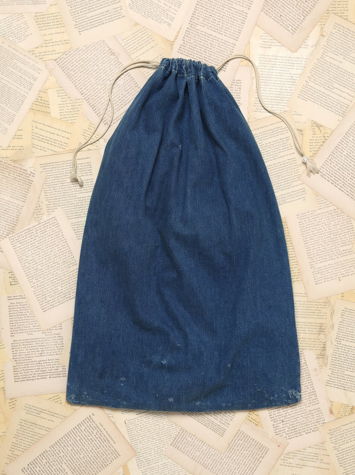 Vintage Denim Laundry Bag