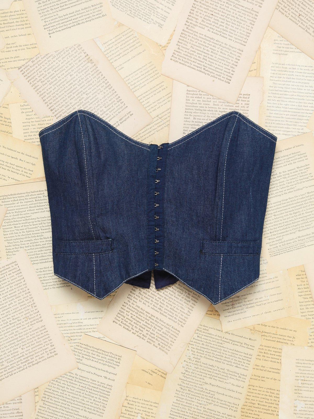 Vintage Denim Corset Top