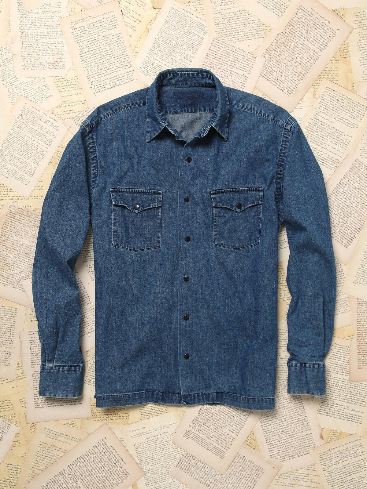 Vintage Long Sleeve 90s Denim Shirt