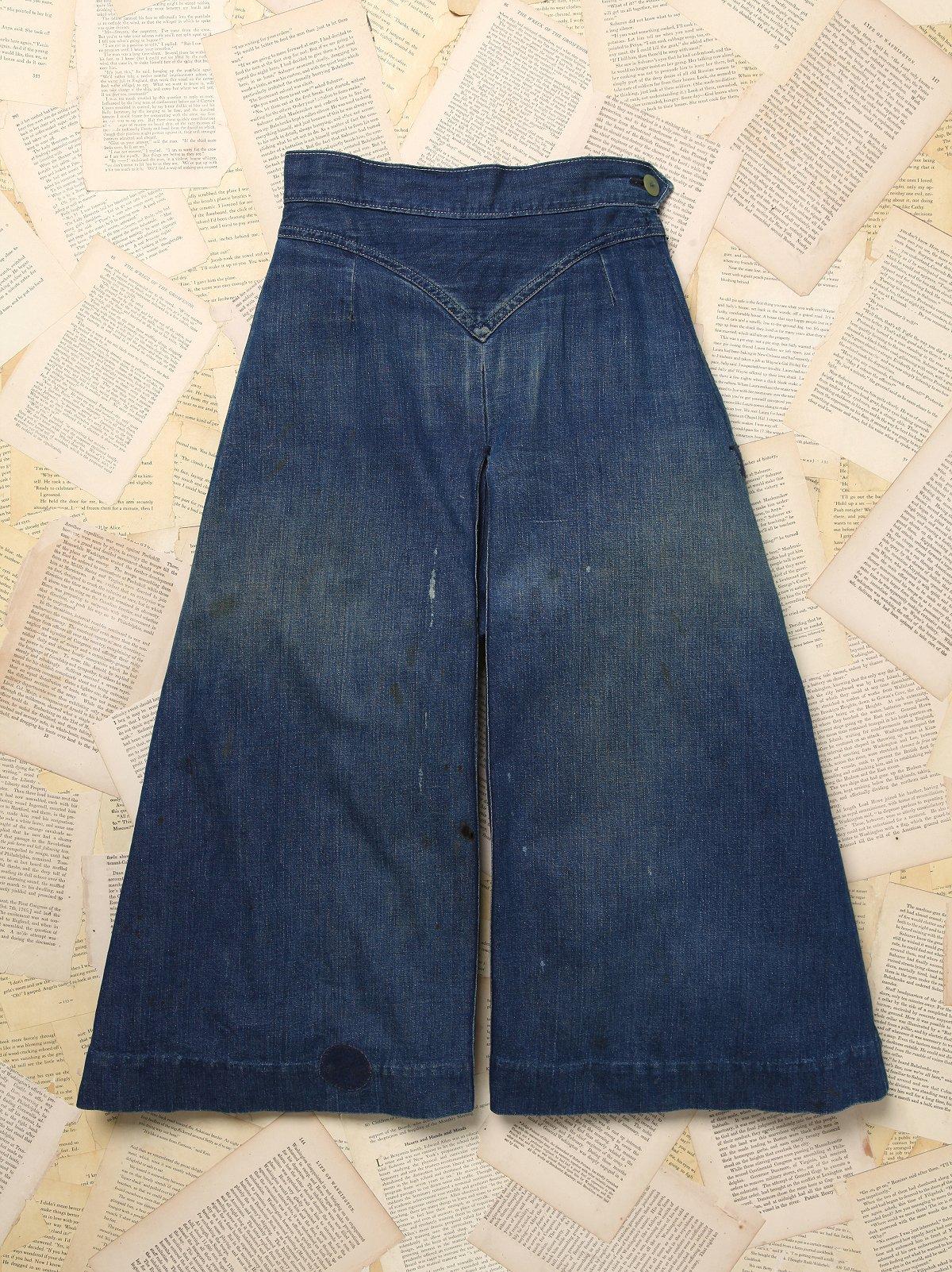 Vintage Denim Culottes