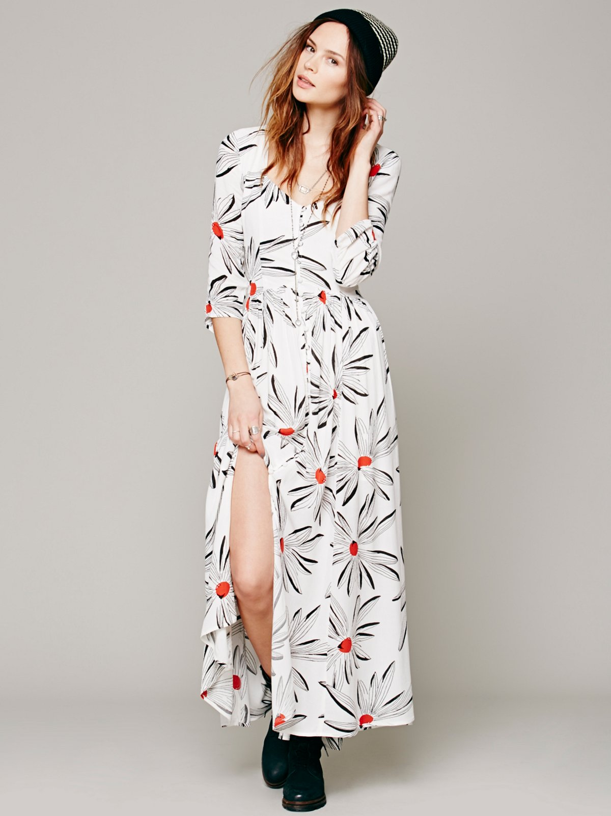 Bed of Daisies Printed Maxi