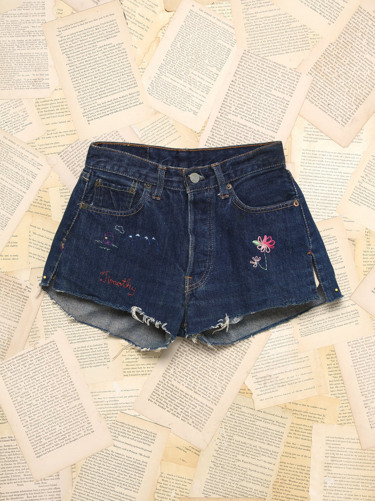 Vintage Big E Denim Shorts
