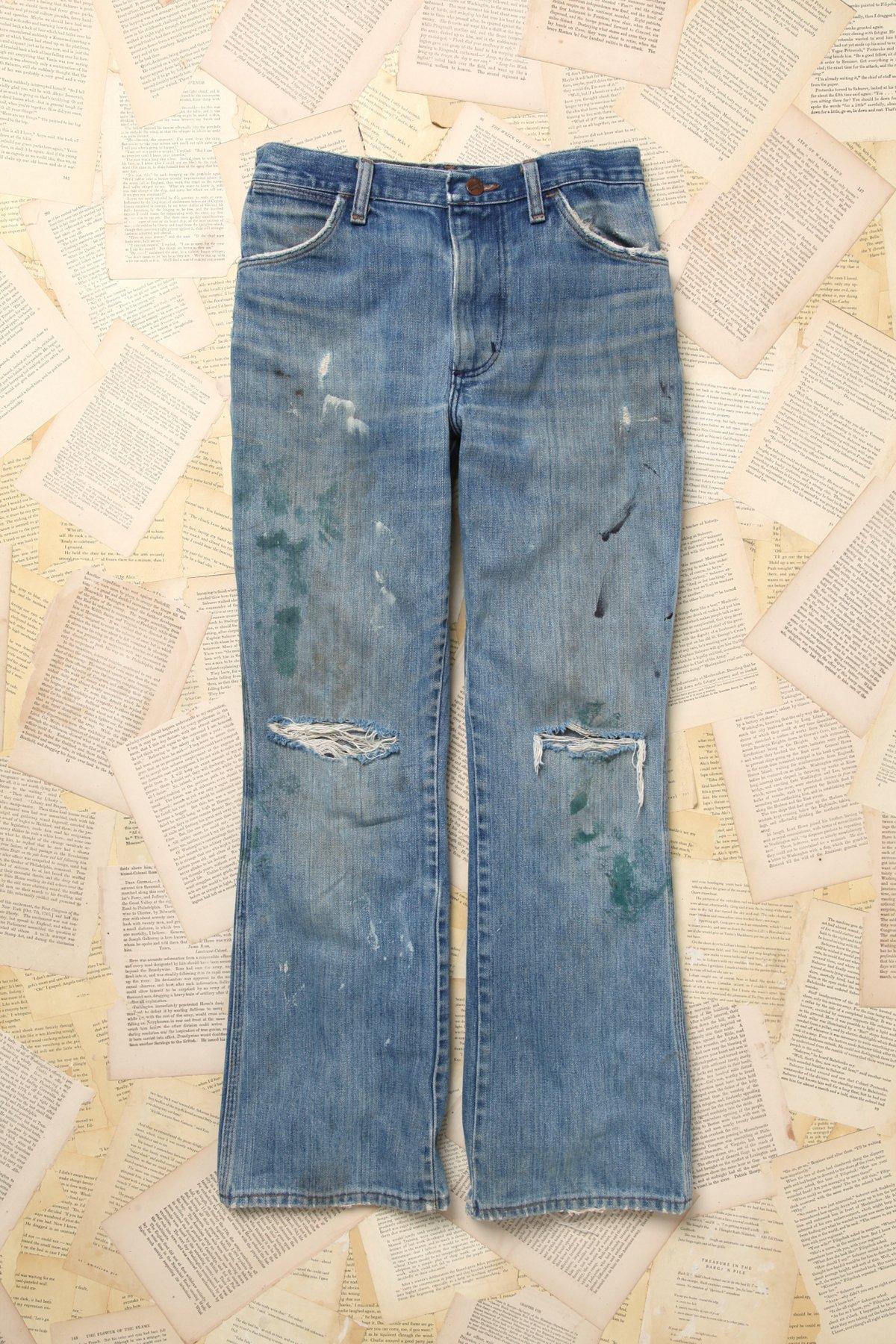 Paint Splattered Wrangler Jeans