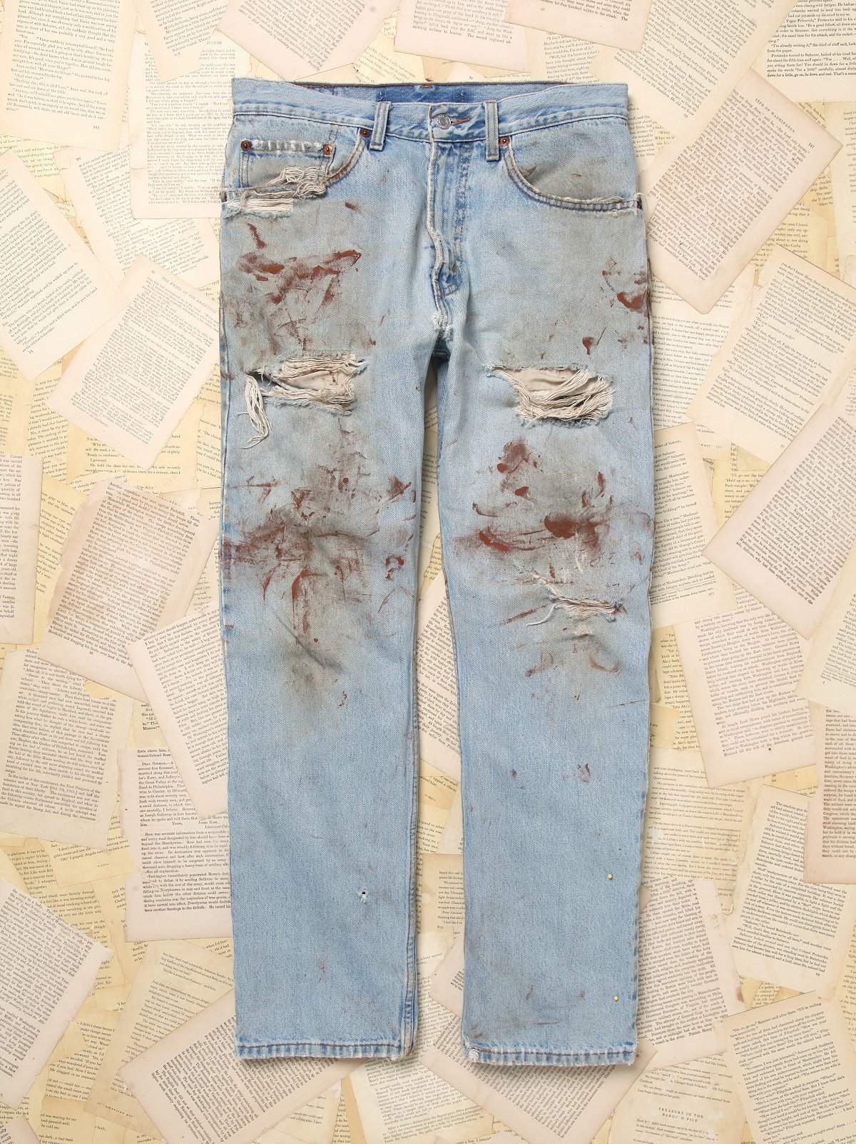 Vintage Paint Splattered Levi's