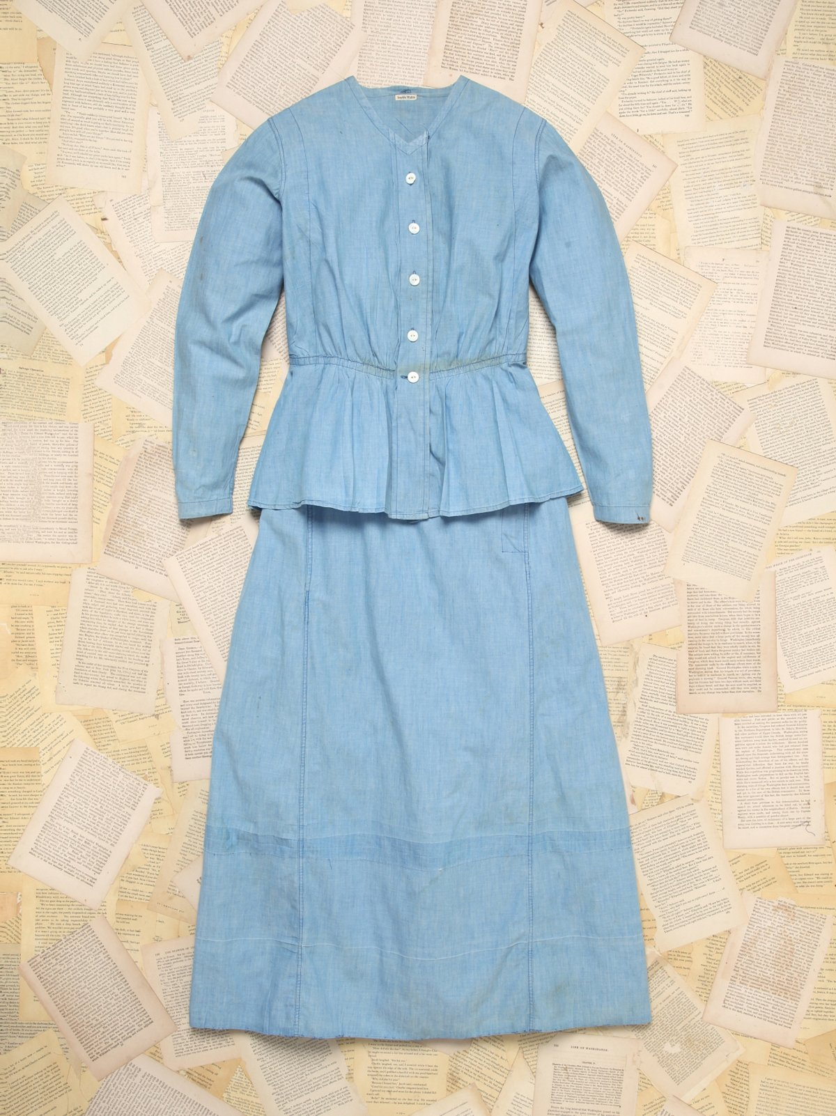 Vintage Chambray Woman's Work Uniform