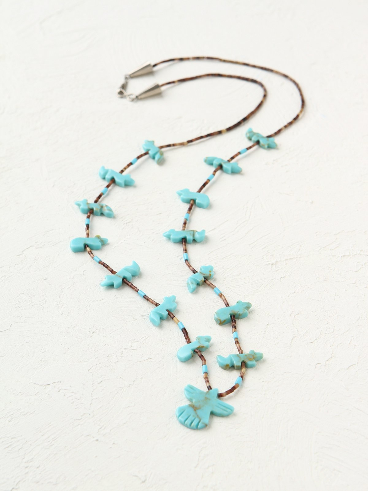 Vintage Delicate Bird Bead Necklace