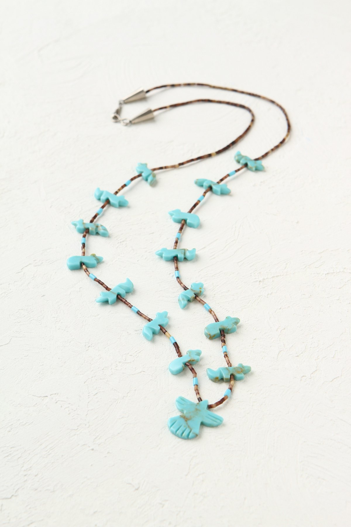 Vintage Delicate Bird Bead Necklace