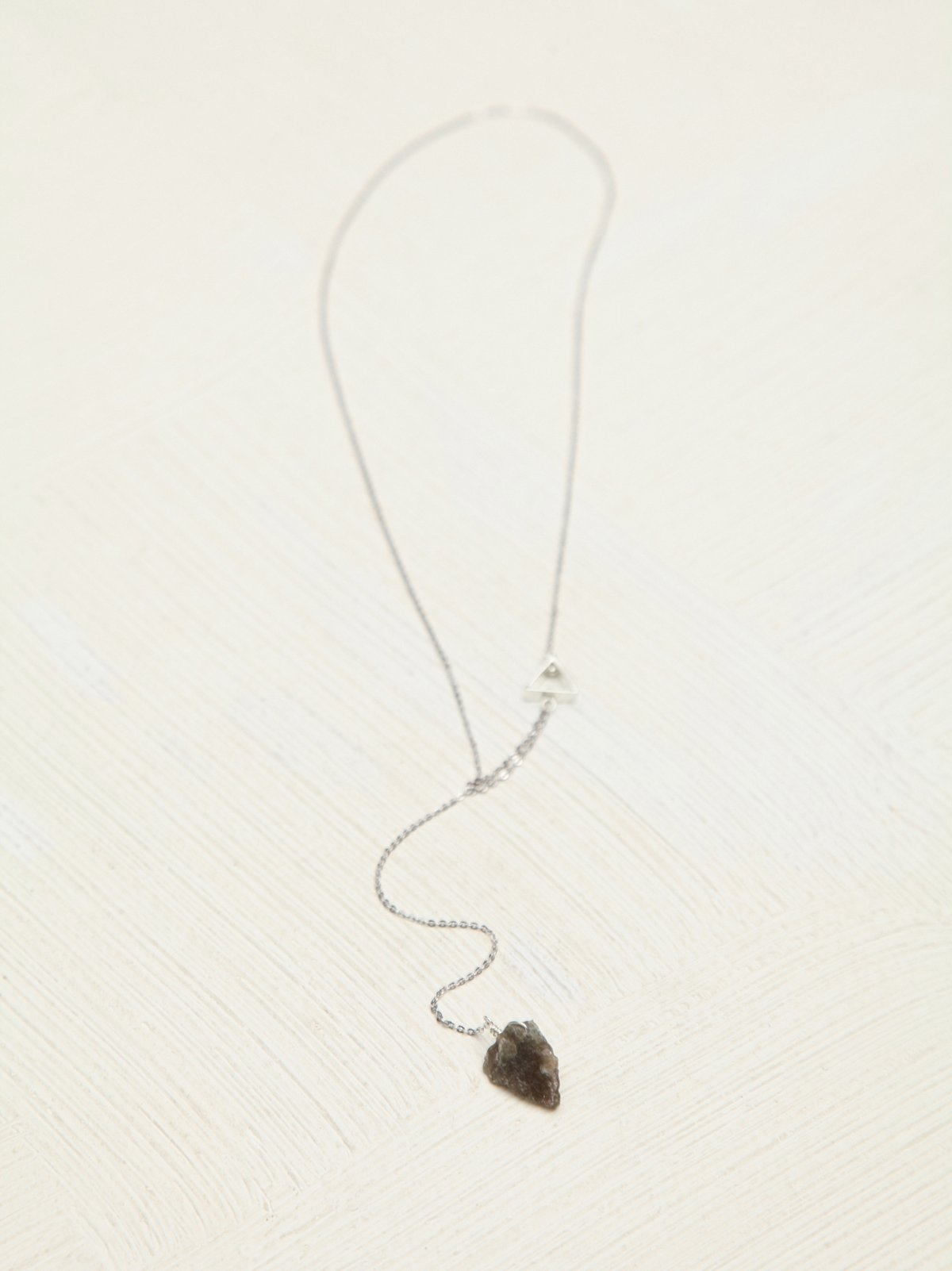 Crystal Lariat Delicate Charm Necklace