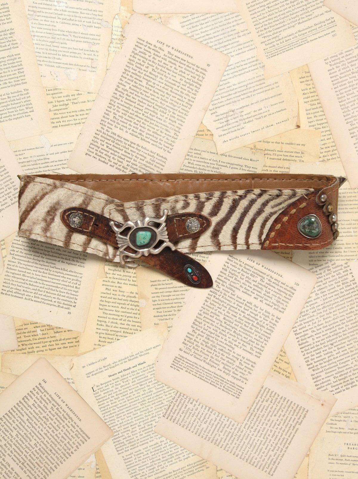 Vintage Patchwork Concho Belt