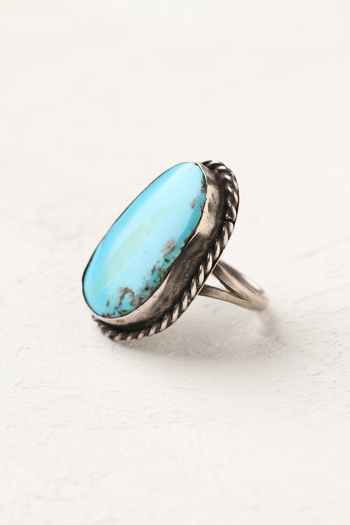 Vintage Silver Turquoise Ring
