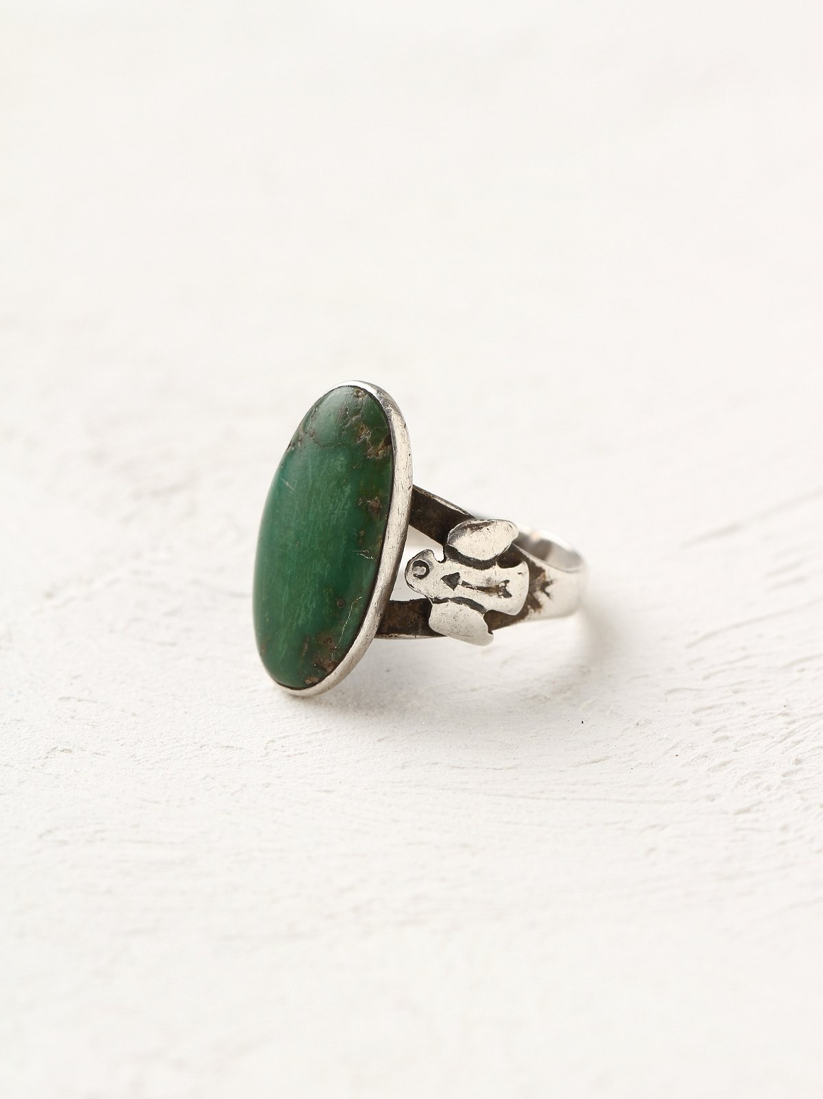 Vintage Silver Jade Ring