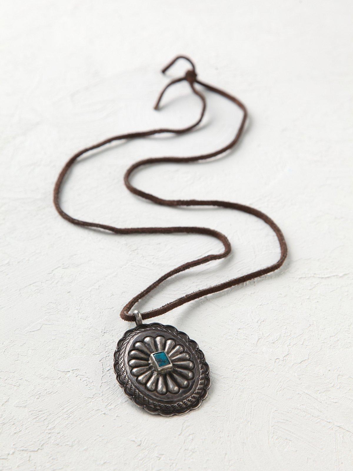 Vintage Silver Turquoise Pendant