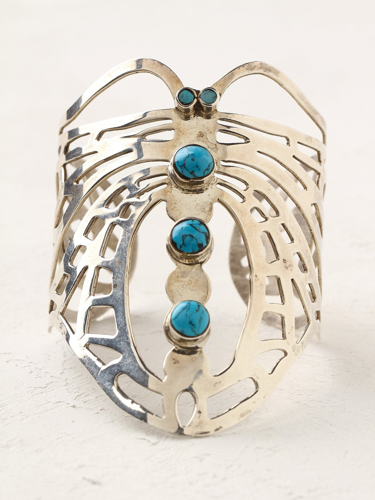 Vintage Silver Turquoise Cuff