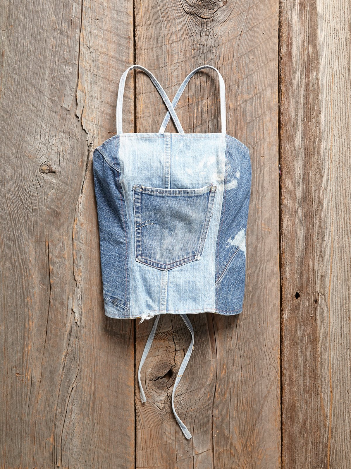 Vintage Denim Halter Top
