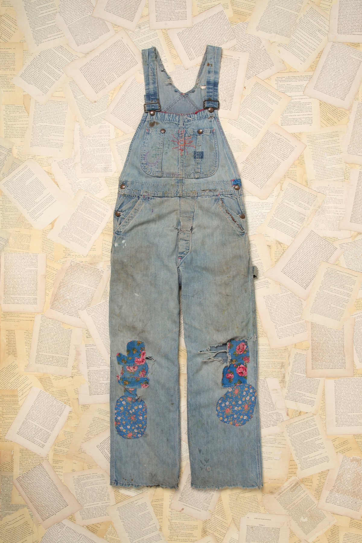 Vintage Pay Day Patched Overalls