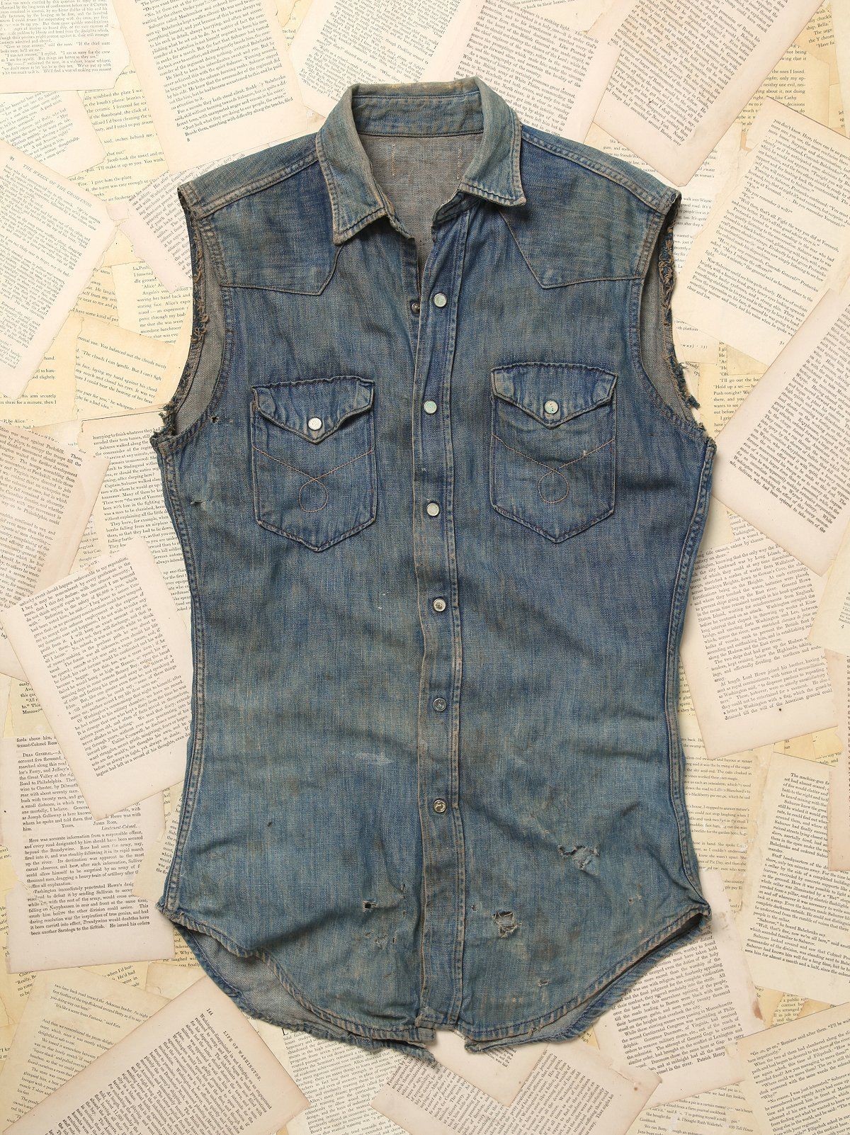 Vintage Denim Shirt Vest