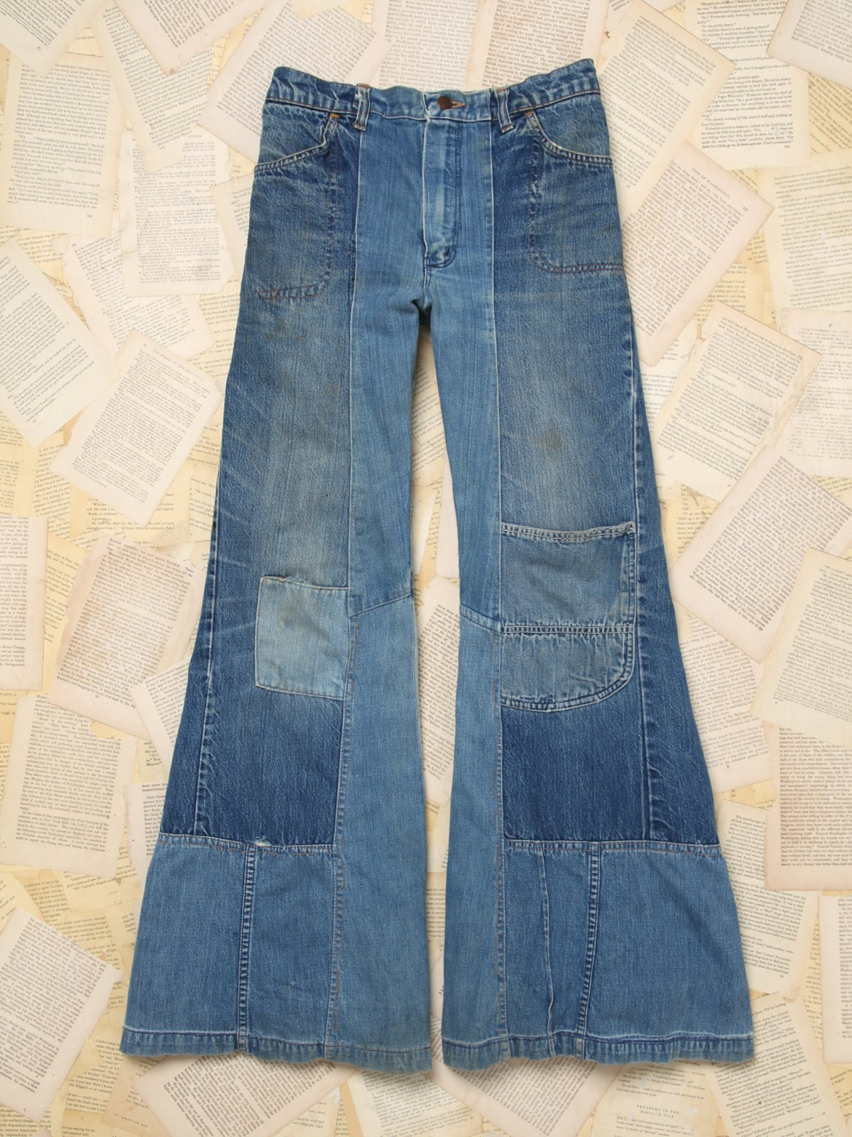 Vintage 1970s Homemade Denim Bell Bottoms