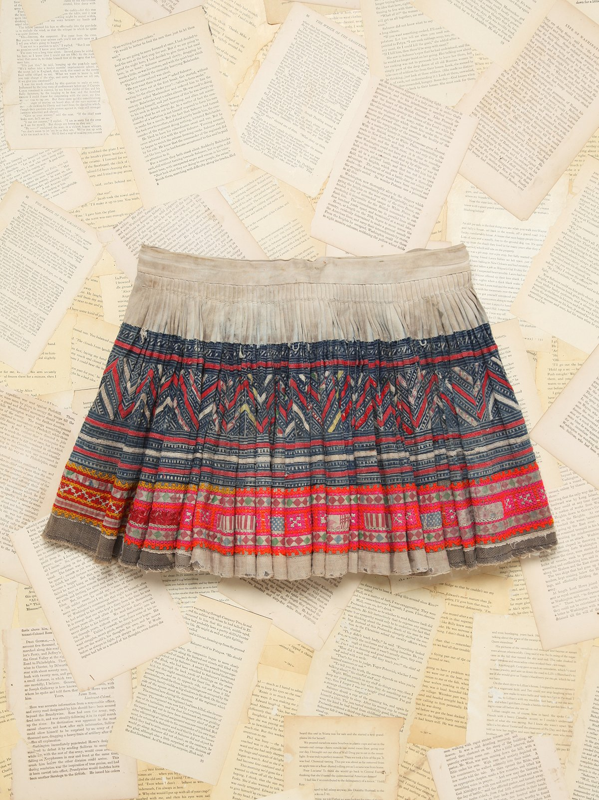 Vintage Mica Embroidered Skirt