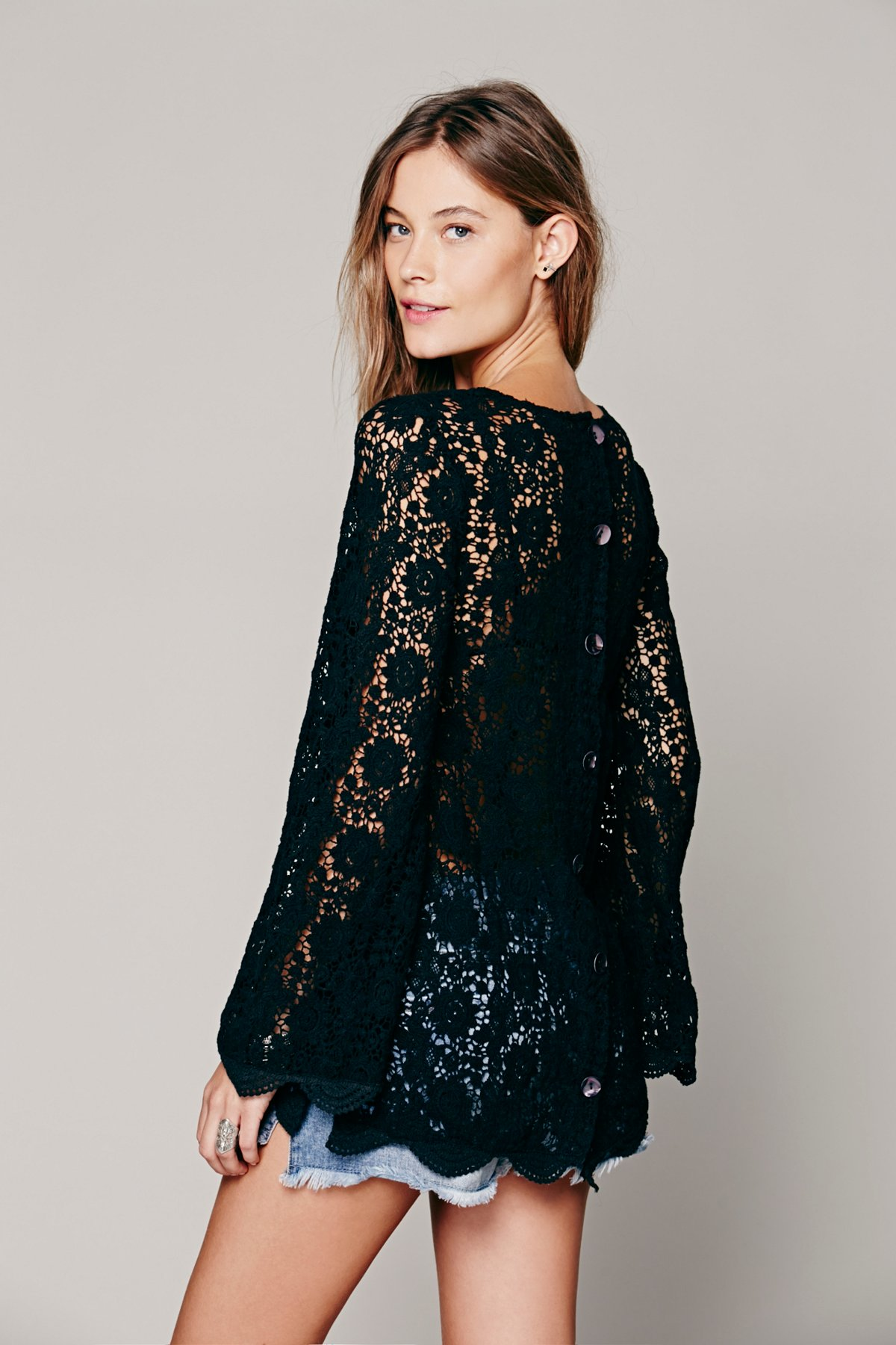 Infinite Arms Lace Tunic