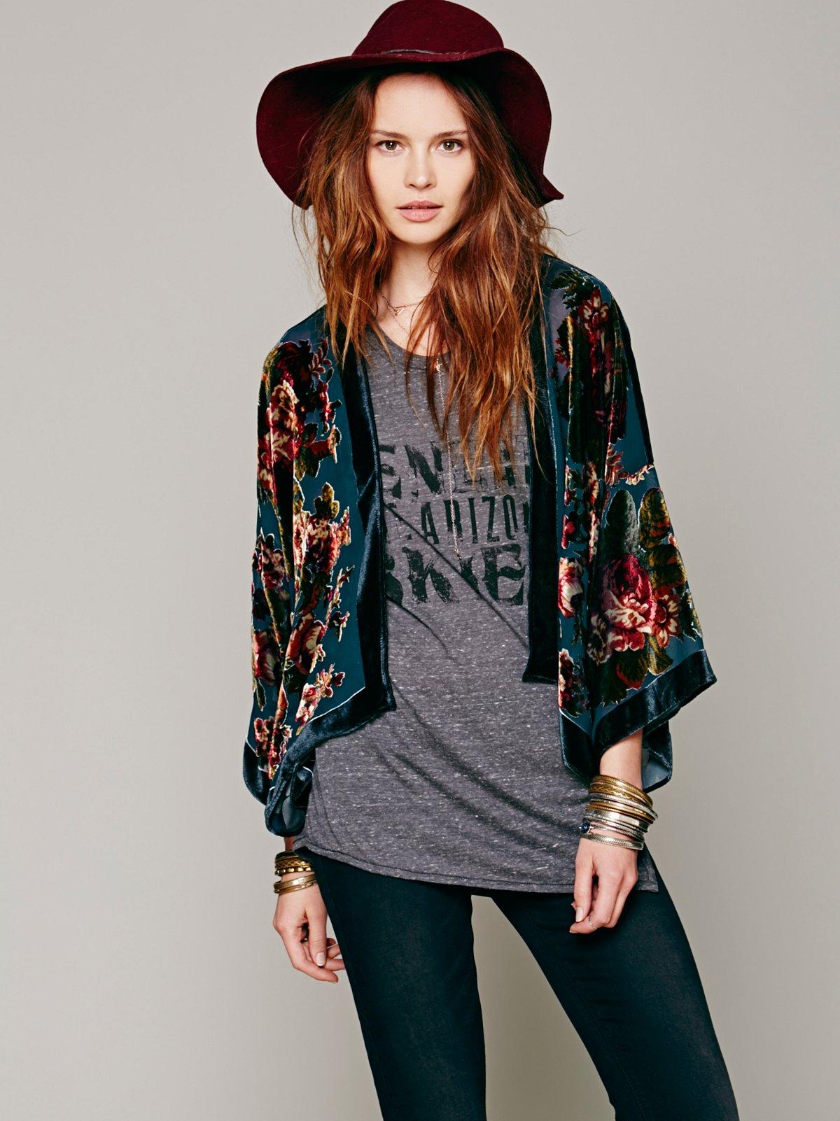 Floral Bed Jacket