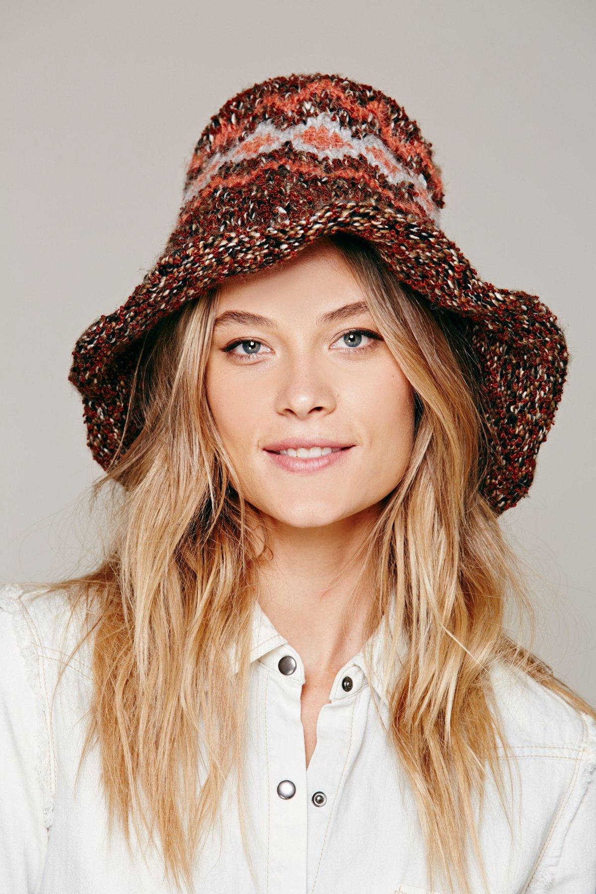 Knitted Wire Brim Hat