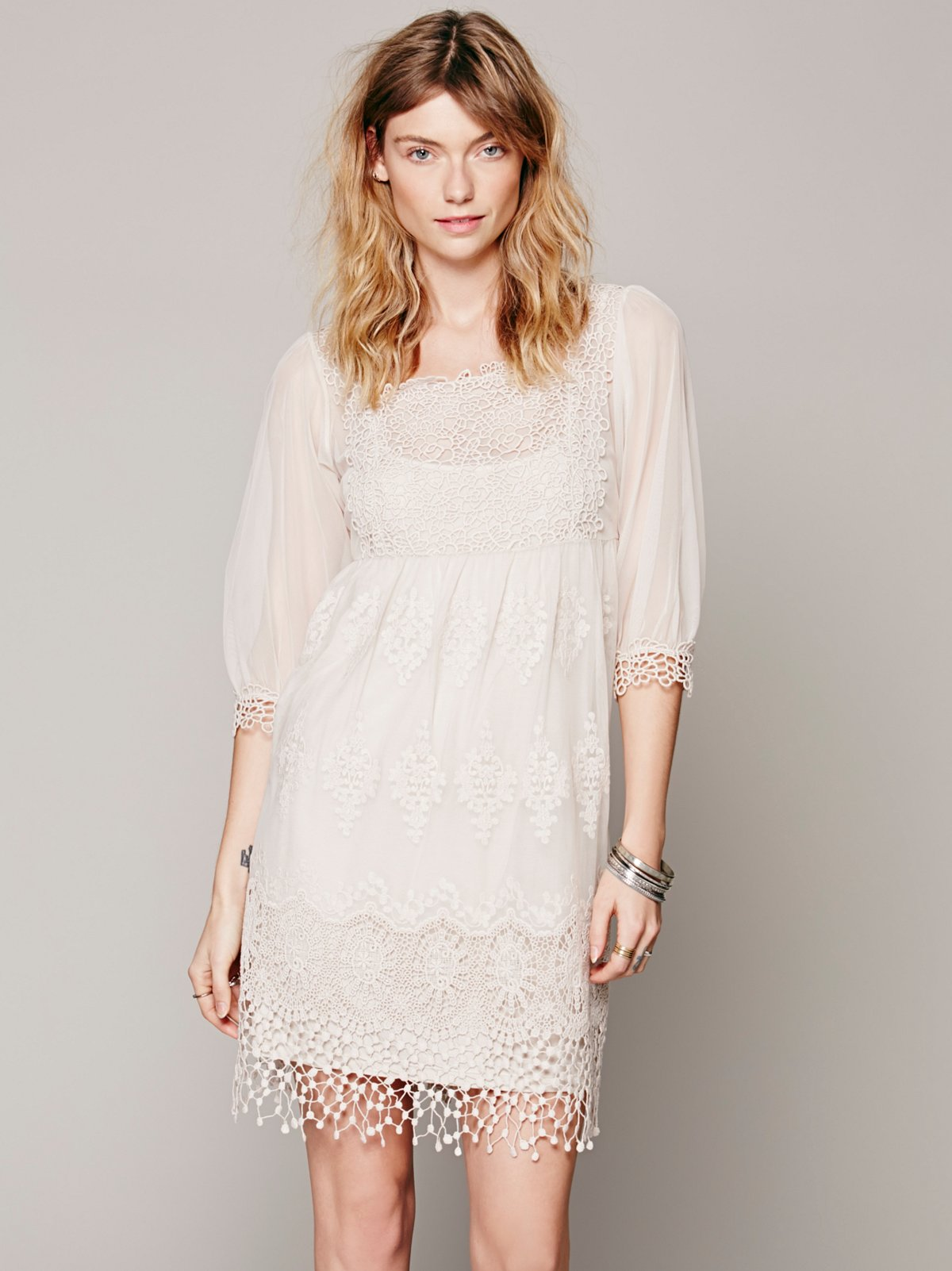 Empire Mesh Lace Dress