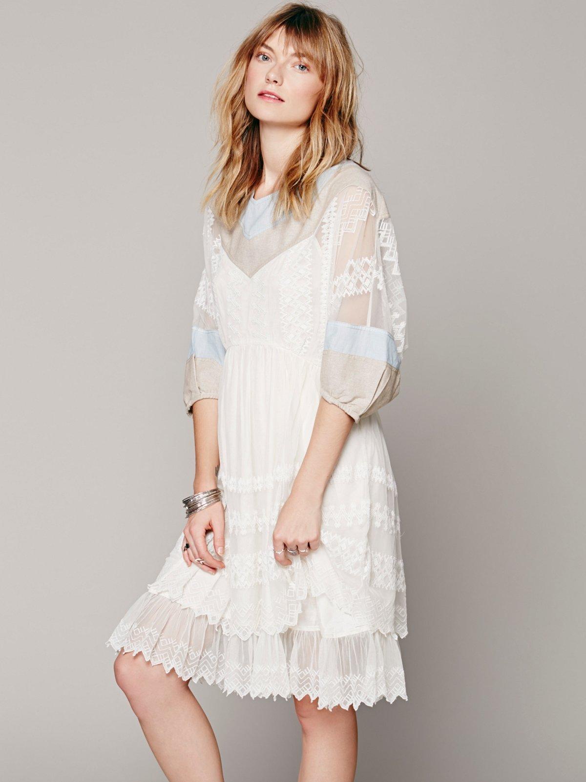 FP New Romantics 9 to 5 Patchwork Dress