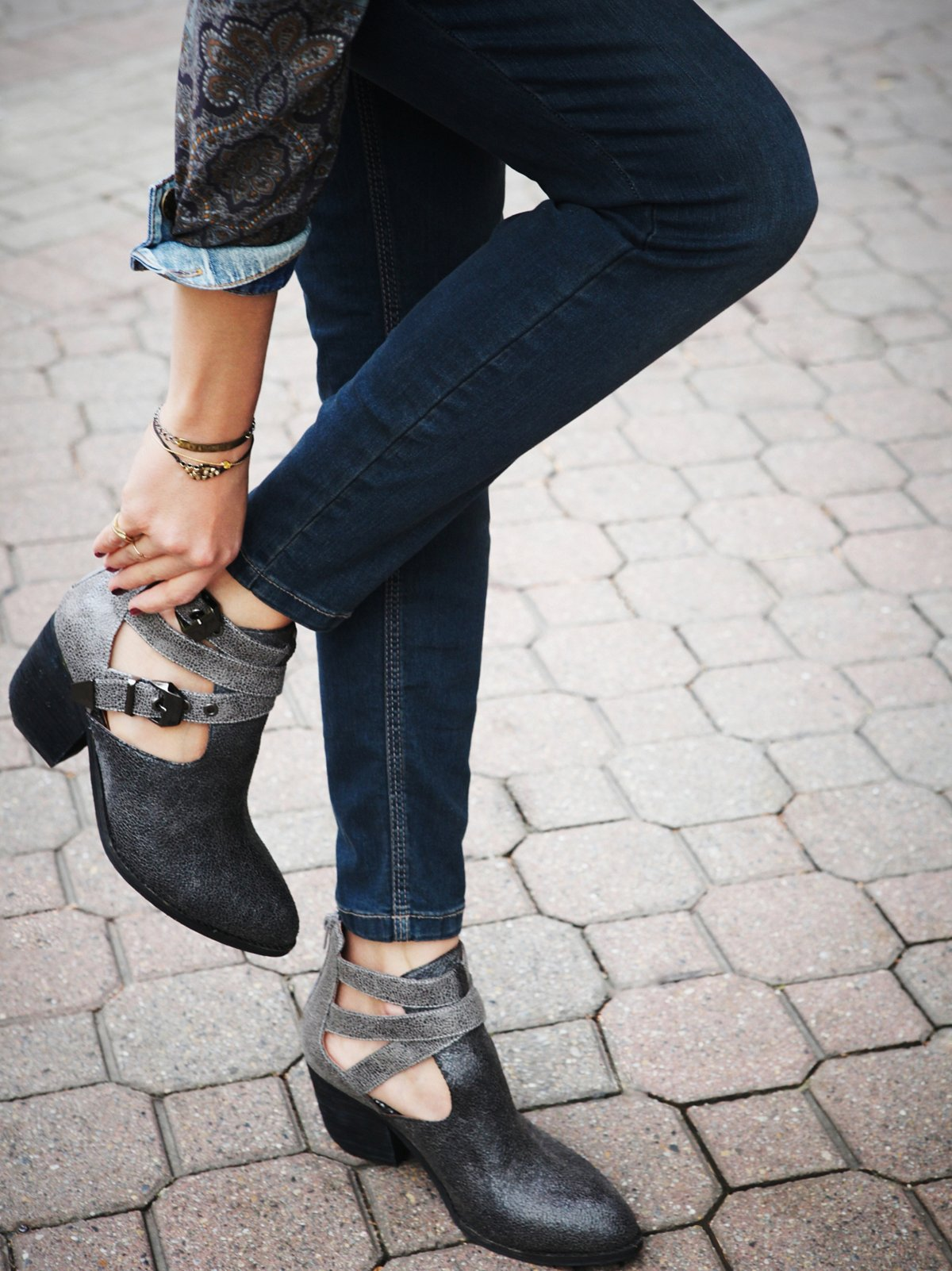 Crackle Overholt Ankle Boot