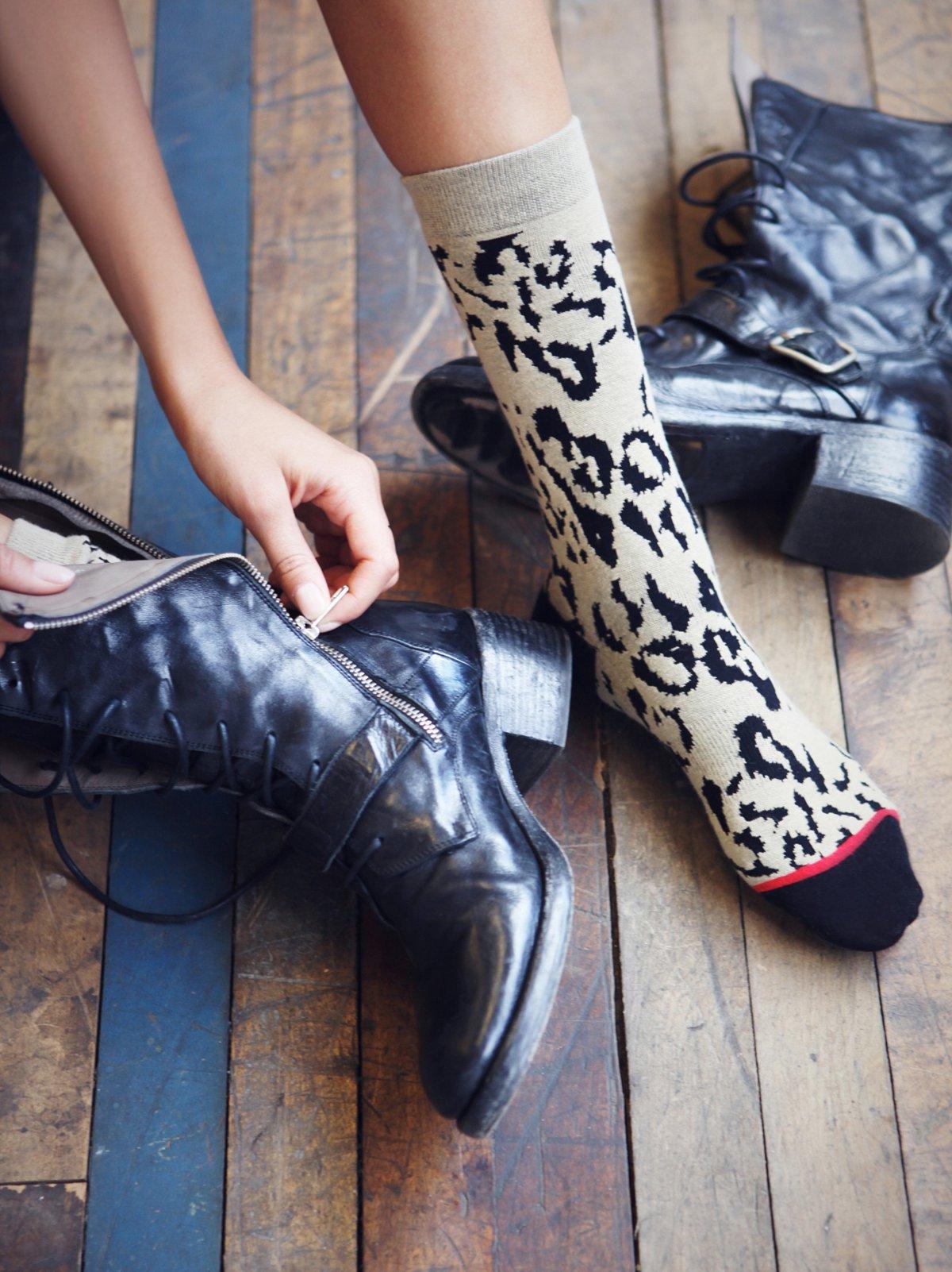 Cheetah Ankle Sock